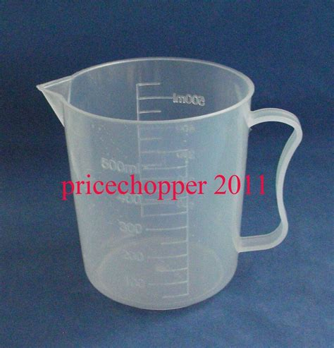 500ml to cups 500ml transparent plastic beaker with handle measuring cup ebay