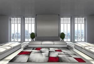 tapis avec effet 3d vintage rouge pour salon crystal With tapis rouge avec canapé effet vieilli