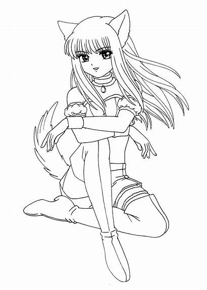 Coloring Manga Pages Cartoon Animated