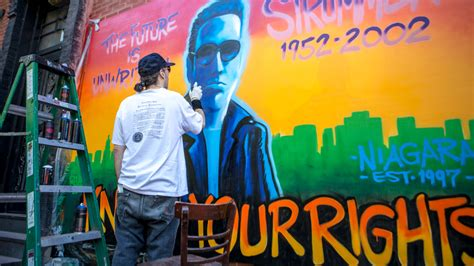 Joe Strummer Mural New York City by Revolt Resurrects Joe Strummer In The East Animal
