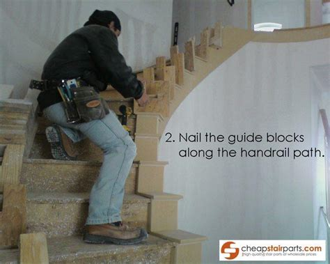 bend wooden stair handrail step  step guide