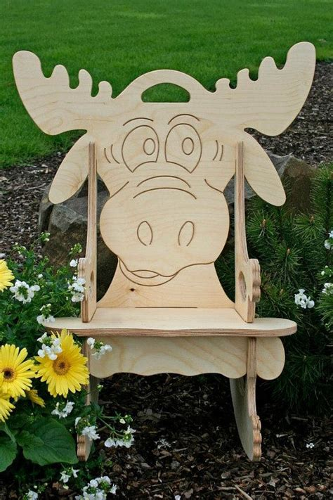 darn cute moose puzzle rocking chair