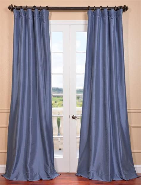 wisteria blue faux silk taffeta curtain contemporary