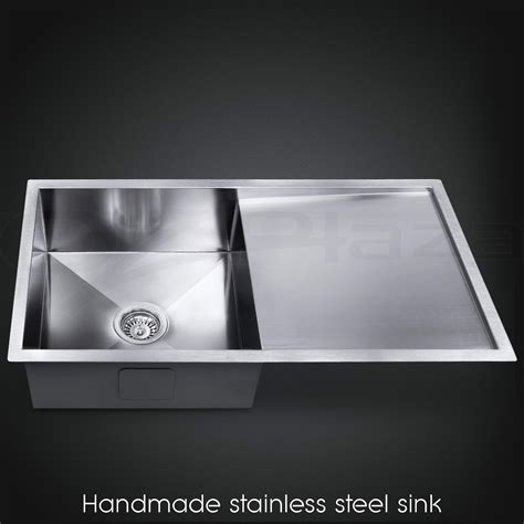 870x450mm handmade stainless steel undermount topmount