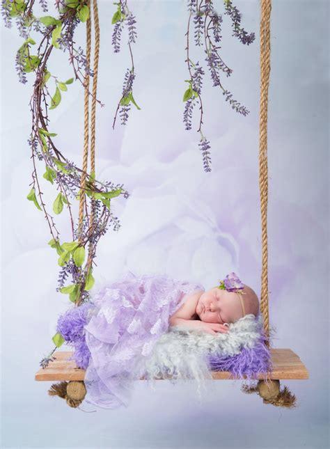 baby swing digital backdrop  newborn photography