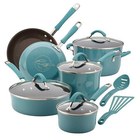 cookware sets ceramic steel hard pots pans pan pot porcelain enamel ray amazon rachael kit piece types check anodized