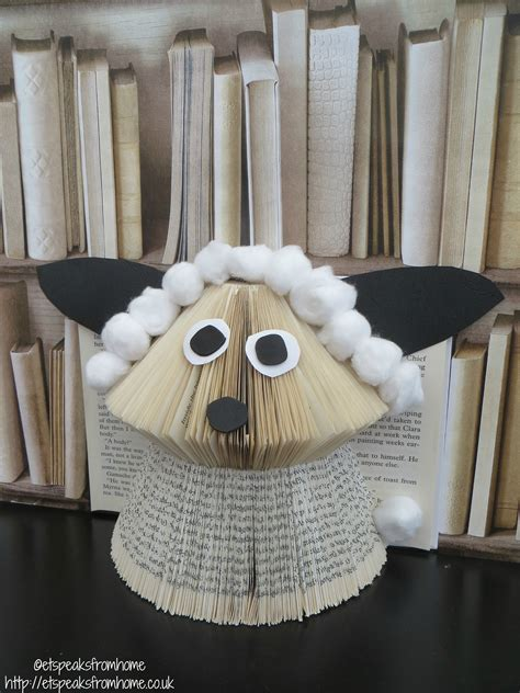book folding sheep  speaks  home