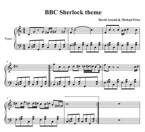 sheet    theme song sherlock