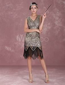 great gatsby flapper dress 1920s vintage costume women39s With robe 1920 femme