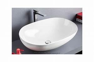 vasque poser cramique blanche interesting vasque poser With salle de bain design avec vasque a poser ronde blanche