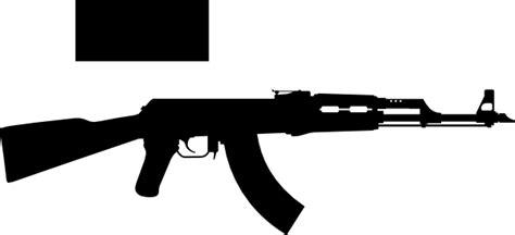 Ak 47 Clipart Ak 47 One Gun Square Clip At Clker Vector Clip