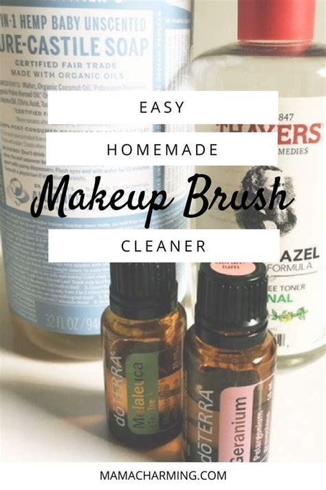 easy homemade makeup brush cleaner essential oils