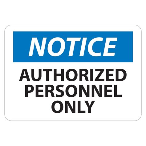 notice authorized personnel  sign ultrasource food equipment  industrial supplies