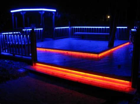 led deck lighting  color  steps  pictures
