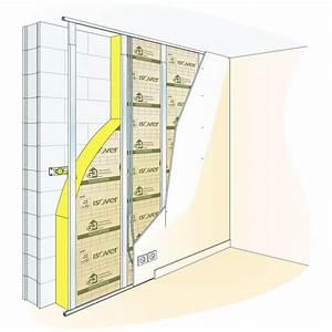Laine De Verre Sans Pare Vapeur : doublage thermo acoustique sur ossature m tallique ~ Premium-room.com Idées de Décoration