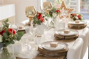 Table D Appoint Maison Du Monde : une table de no l chic et l gante en dor blanc et rouge ~ Teatrodelosmanantiales.com Idées de Décoration