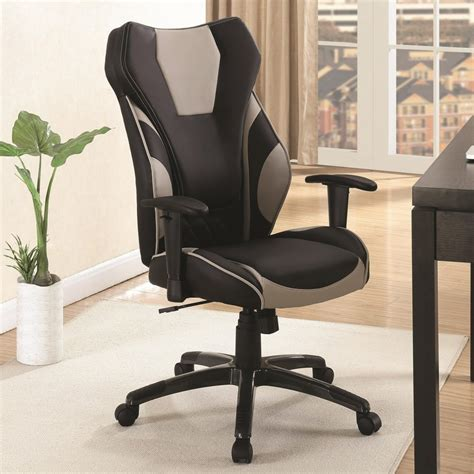 Office Chairs In Las Vegas by Black And Grey Leatherette High Back Office Chair Las