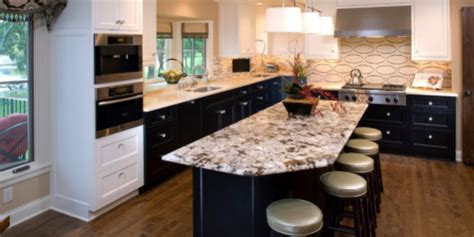 two different granite colors in kitchen a guide to mixing granite colors as two tone kitchen 9502