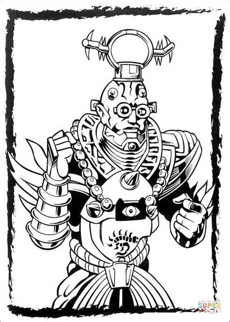 dibujo de el villano de los power ranger  colorear