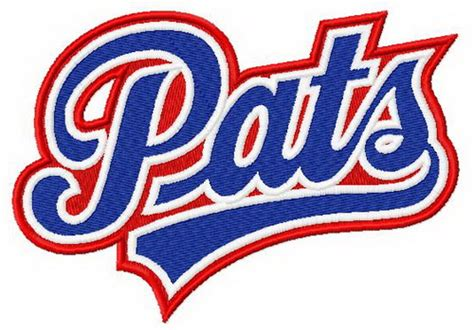 Pats logo machine embroidery design