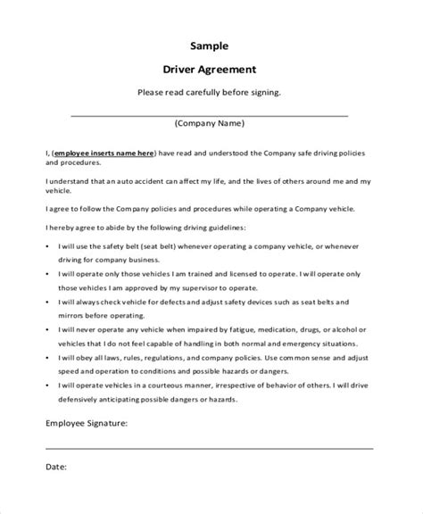 Employee Vehicle Use Agreement Template by Company Vehicle Use Agreement Template Sle Novation