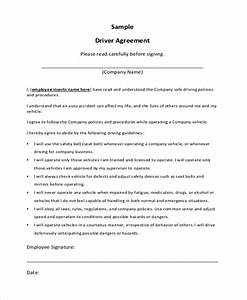 truck driver contract agreement With company driving policy template