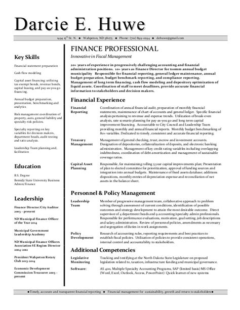 resume financial analyst resume sle financial