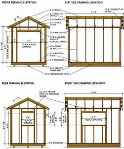 8×12 Shed Blueprints For Building A Wooden Storage Shed