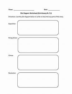 Plot Diagram Worksheet Middle School