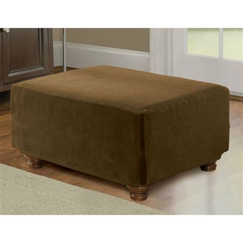 And Ottoman Covers by Sure Fit Stretch Pearson Ottoman Cover Ebay