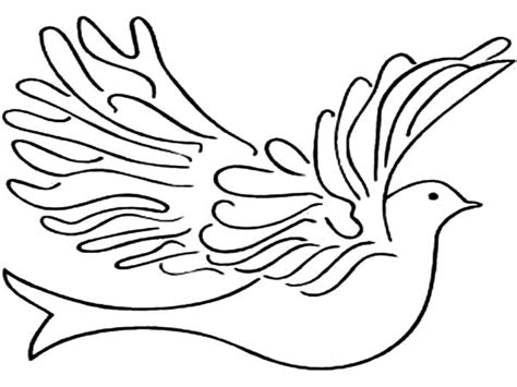 Dove Coloring Page Dove Free Colouring Pages