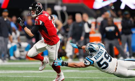 falcons open   point favorites  panthers  week