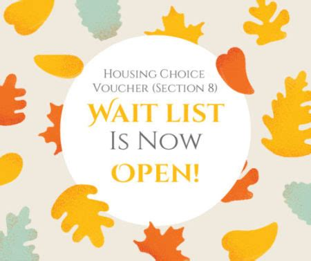 section 8 waiting list open bloomington housing authority now open housing choice