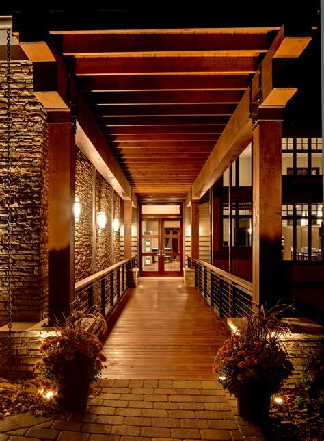 Covered walkway ideas entry contemporary with container