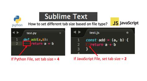 sublime text    set  tab size based