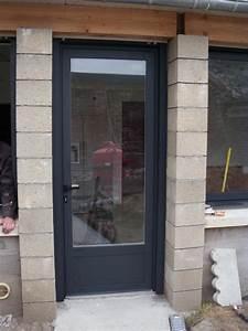porte en alu semi vitree With porte de garage avec porte semi vitrée intérieur