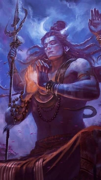 Shiva Lord Wallpapers Mahakal Iphone Meditation Awesome