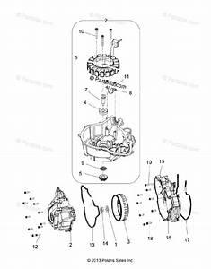 Polaris Atv 2014 Oem Parts Diagram For Engine  Stator