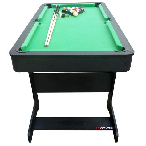 5 foot pool table viavito pt100x 5ft folding pool table