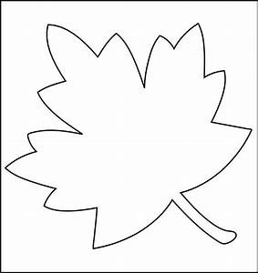 leaf printable template coloring home With leaf cut outs templates