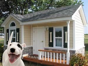 11 luxury dog houses worthy of mtv cribs barkpost With luxury outdoor dog house