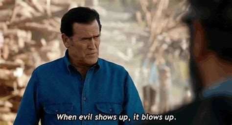 Bruce Cbell Memes - evil dead gif find share on giphy