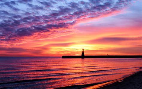 Beach Sunset Landscape  Hd Wallpapers Pulse