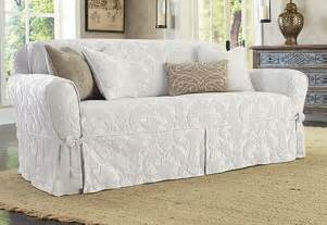 sure fit matelasse damask one t cushion sofa slipcover color white what s it worth