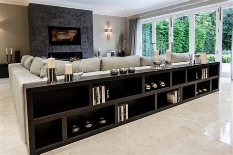 Balcony Shelf by Long Low Bookcase Family Room Contemporary With Ceiling