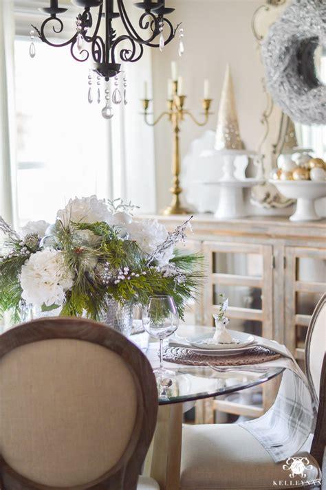 simple intimate ice blue christmas table kelley