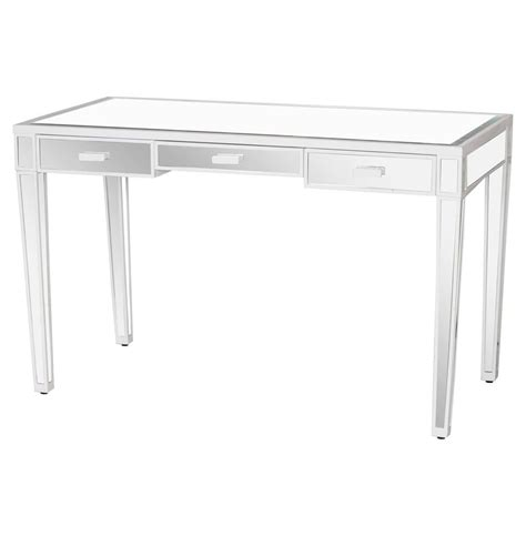 white desk with mirror dickinson hollywood regency white lacquer wood mirror desk