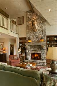 Fireplace In The House by Cozy Lake House With A Fabulous Screened Porch
