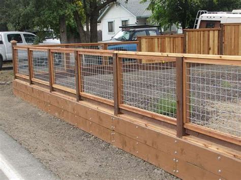 Wood And Hog Wire Fence …