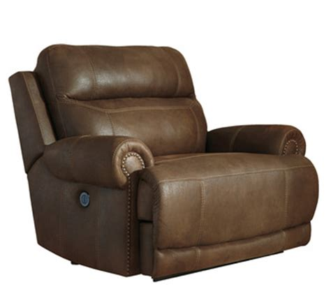 austere chair and a half power wall recliner in brown by